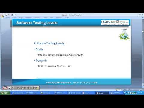 Software QA Testing Training Tutorials for beginners | h2kinfosys reviews | training reviews