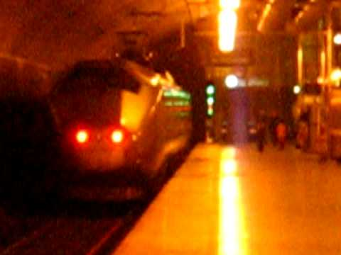 Flytoget airport train from Skøyen to Oslo Gardermoen airport calling at...
