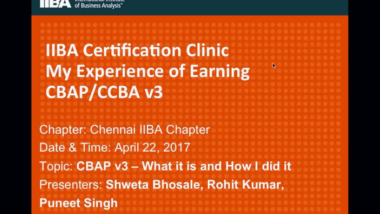 Cbap V3 Certification Preparation Experience Youtube
