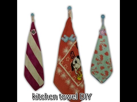 Hanging Kitchen Towel Using Bath Towel No Sew