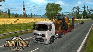Euro Truck Simalator 2: Carregando Escavadeiras Para BERLIM #2