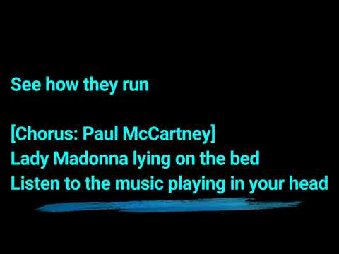 Lyrics of Lady Madonna by The Beatles