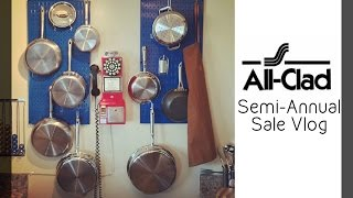 All-Clad Cookware Semi-Annual Sale Vlog, Haul, and Kitchen Pegboard Display!