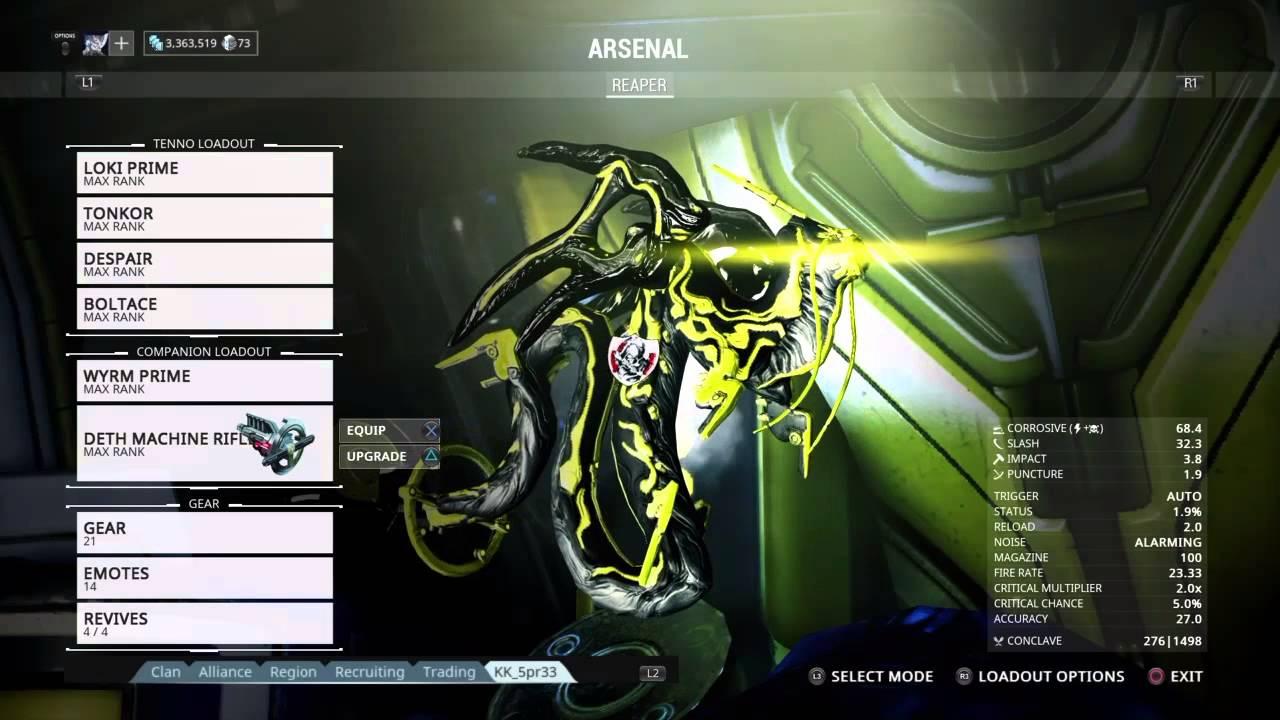 Warframe Best Sentinel