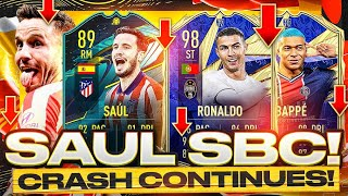 89 MOMENTS SAUL SBC! 🤔 SAD MARKET CRASH CONTINUES! FIFA 21 Ultimate Team