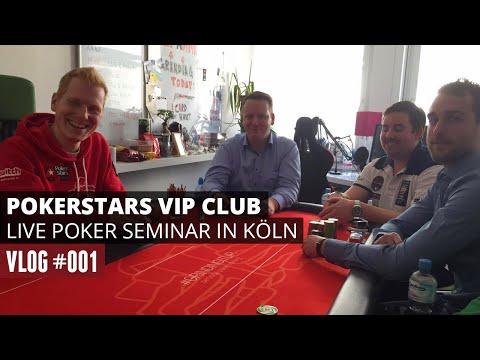 POKERSTARS VIP CLUB LIVE POKER SEMINAR IN KÖLN [VLOG #001][GER]