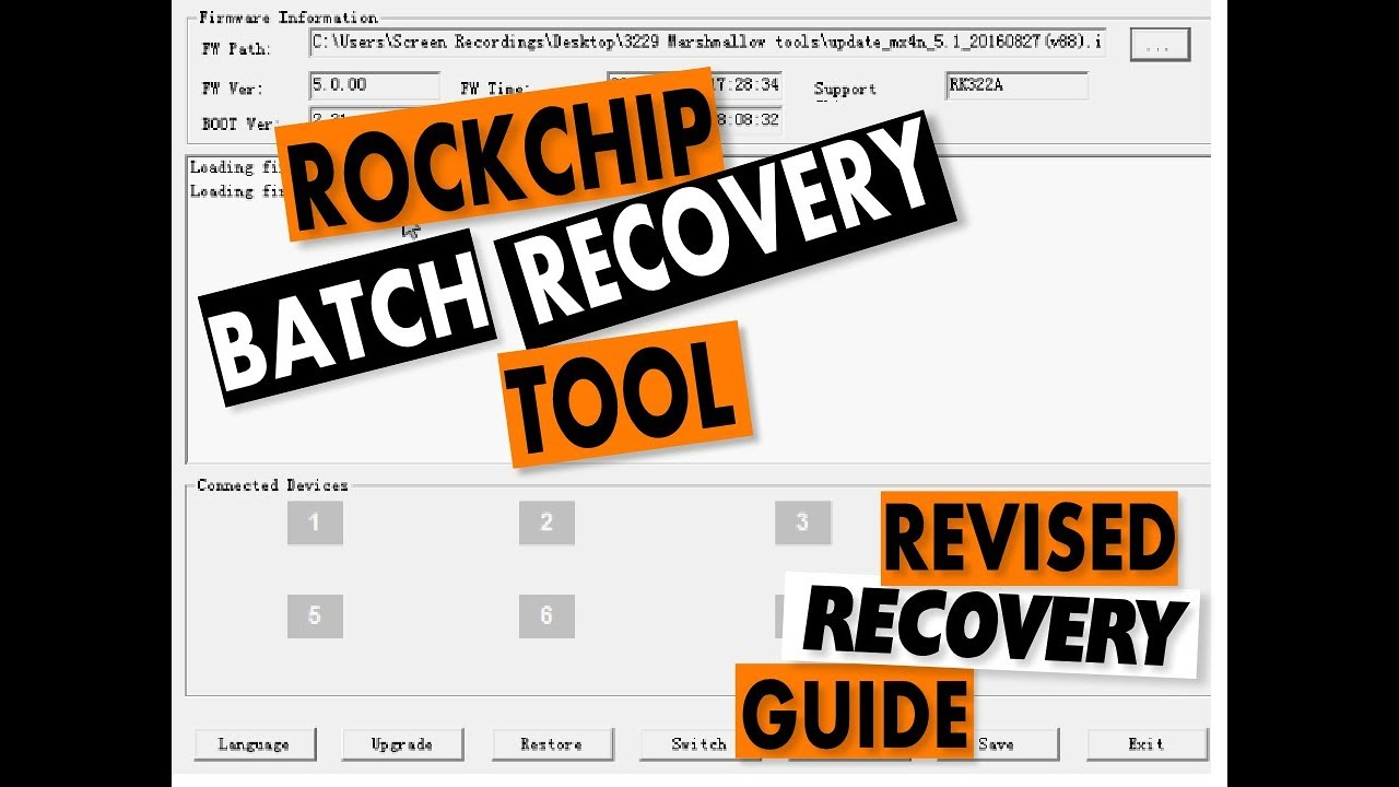 Rockchip 3229,3328, 3288, 3399 - USB Recovery Android Tool: Revised  Universal Guide