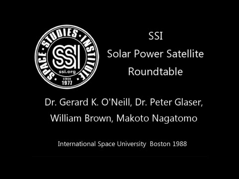 SSI Solar Power Satellite Roundtable at ISU 1988