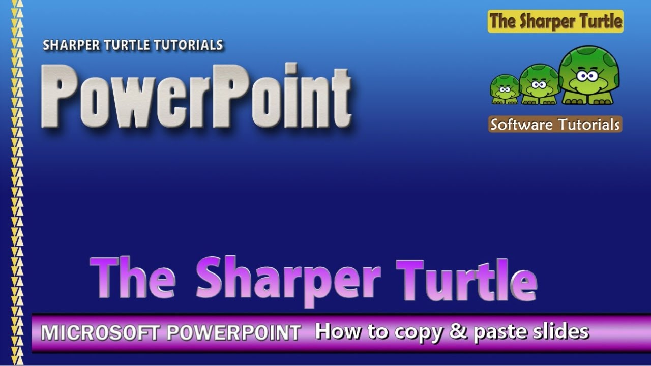 microsoft powerpoint - how to copy slides from another, Presentation templates