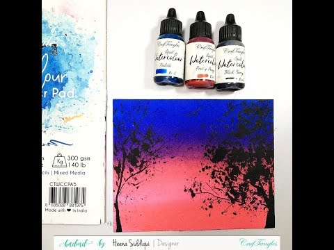 Watercolor Silhouette Painting [Diy Start To End Video Tutorial]