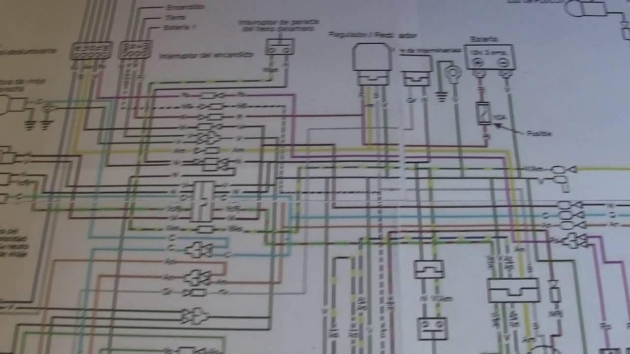 diagrama electrico de motocicleta honda cg 125 1 parte