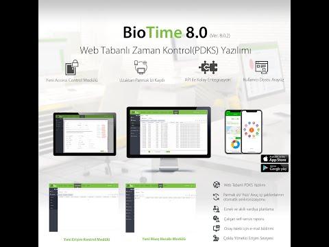 ZKTeco BioTime 8.0 (Zaman Kontrol ve Maaş Hesabı Yazılımı) Personel, Departman, Alan Tanımlama