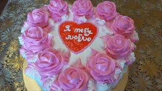 Торт МОЛОЧНАЯ ДЕВОЧКА Торт ко дню Влюблённых  Cake Milk Girl