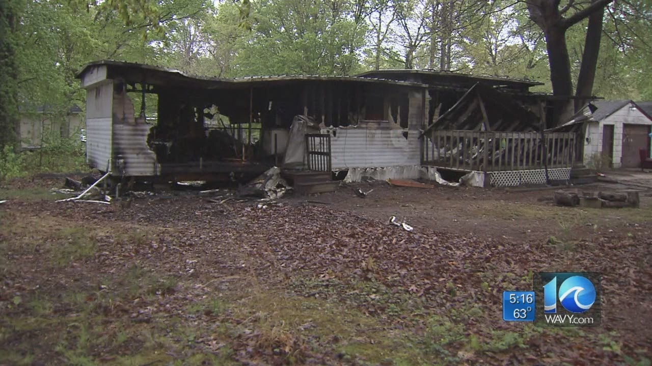 Anita Blanton reports on father burned in fire - YouTube