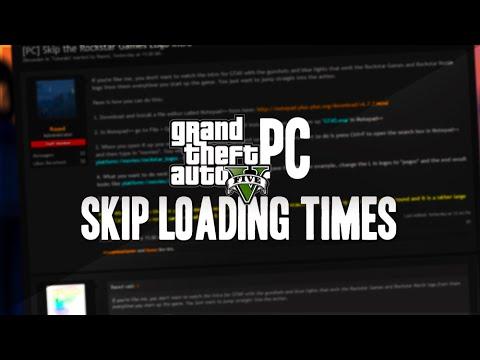 how to make gta v load faster