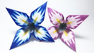 Iris Flower Origami tutorial !