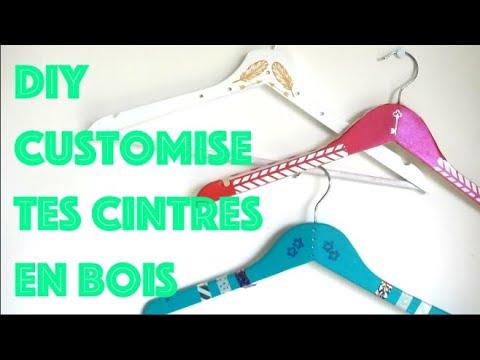 DIY Customise Tes Cintres En Bois// 3 Techniques