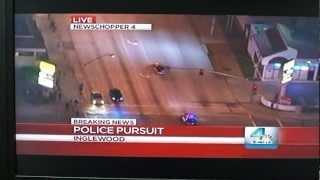 inglewood police chase jan 13 2013 front row seat inglewood raceway