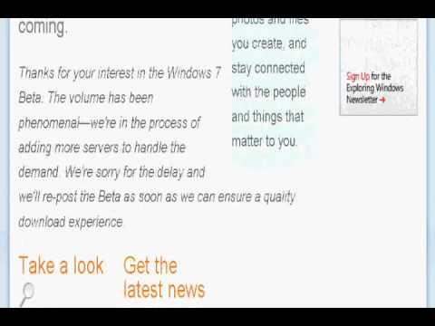 Download Windows 7 BETA FREE