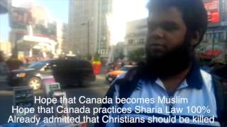 Toronto Islamic Booth Muslims agree: spreaders of Christianity should die!