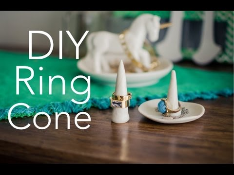 DIY RING CONE + DISH - quick, cheap, easy DIY