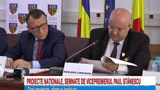 PROIECTE NATIONALE SEMNATE DE VICEPREMIERUL ROMANIEI PAUL STANESCU LA VALCEA