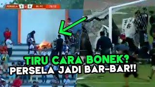 BAKAR BAKAR LELE 😱 Lihat Kondisi Stadion Surajaya Lamongan, Saat Suporter Persela Mengamuk
