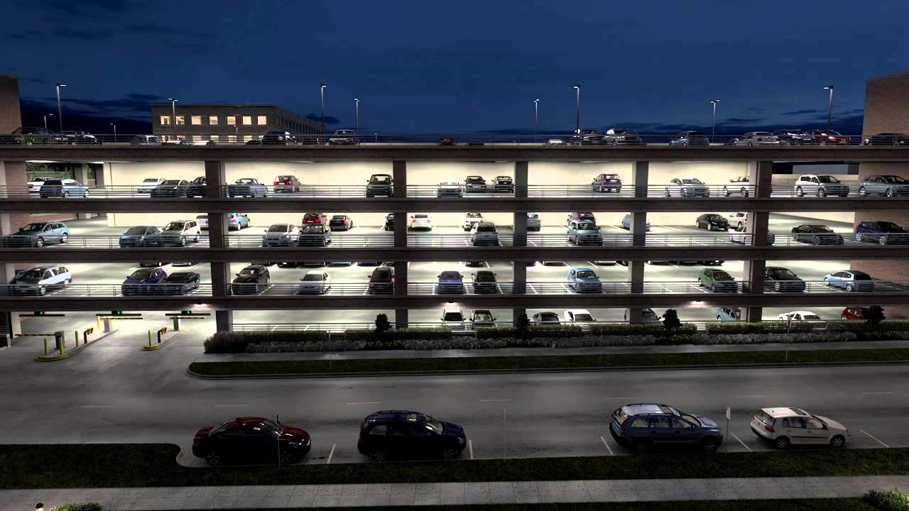 Car Brands Starting With T >> Lithonia Lighting Parking Garage - YouTube