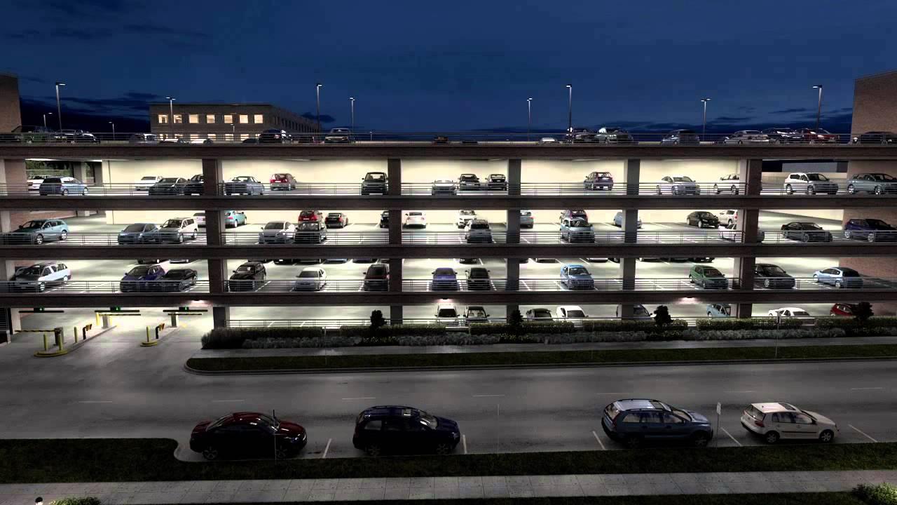 Lithonia Lighting Parking Garage - YouTube