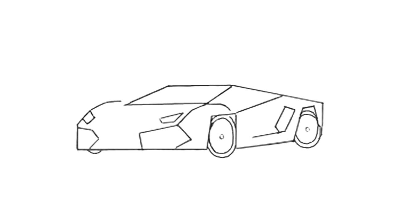 Easy Drawings Of Sports Cars on mclaren p1 race car