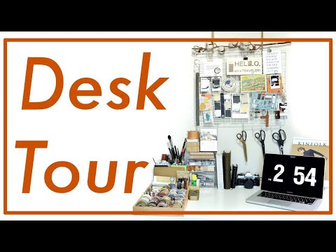 Desk Tour and Stationery Collection | Job's Journal