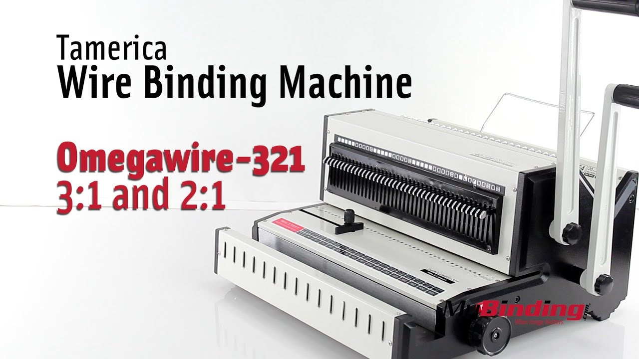 Tamerica Omegawire 321 Wire 3:1 and 2:1 Binding Machine - YouTube