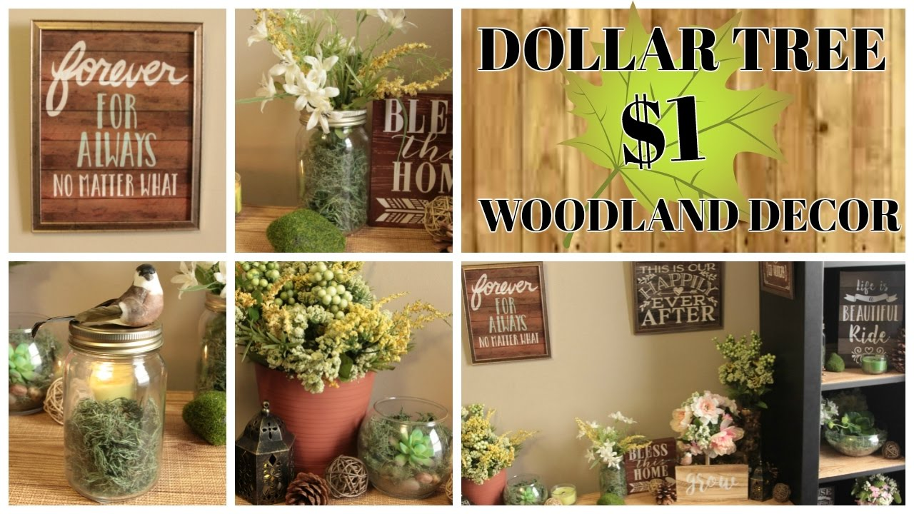 Dollar Tree Home Decor Ideas Part - 36: $1 DOLLAR TREE WOODLAND HOME DECOR IDEAS