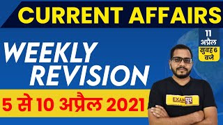 11 APRIL  2021 Current Affairs |Current Affairs Today |Daily Current AffairsExampur | By Sanjeet Sir