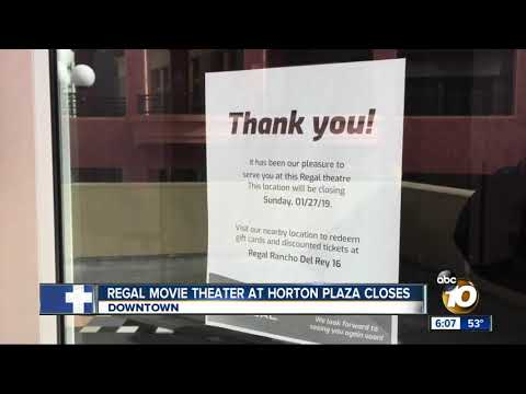 Regal Movie Theater At Horton Plaza Closes
