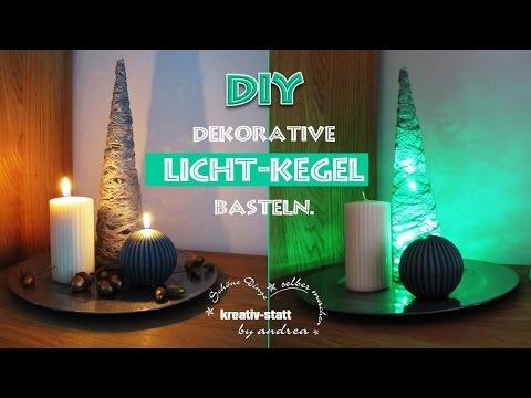 DIY Basteln - Dekorativen Licht Kegel / Tinker - Deco Light Cone