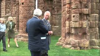 The Prince of Wales visits the historic Northumberland coast