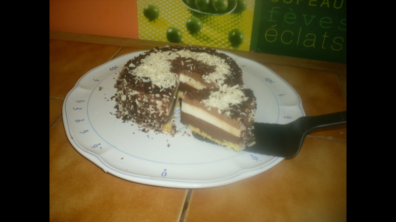 Recette de gateau aux 3 chocolats marmiton