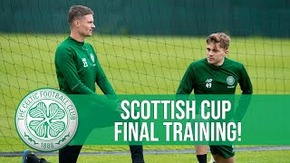 Celtic prepare for Scottish Cup final against Hearts