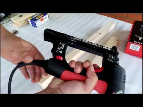 Монтаж деревянной вагонки электрическим степлером 4PRO
