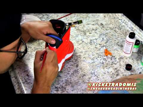 Channel Feature #10: Part 1 - Air Jordan Sriracha 6 Custom Time-Lapse: Kickstradomis