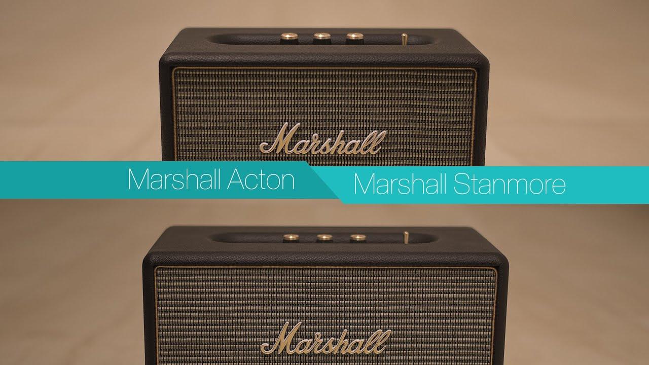 marshall acton vs marshall stanmore bluetooth speaker. Black Bedroom Furniture Sets. Home Design Ideas