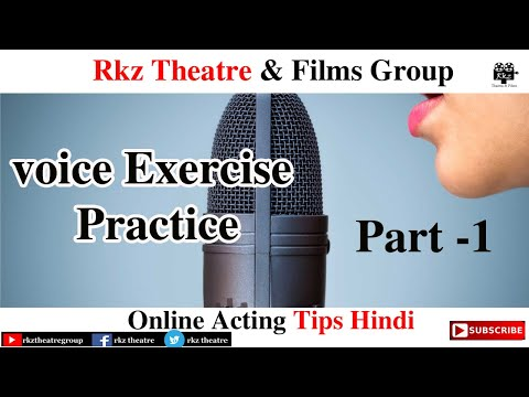 Voice Exercise Tips Part 1 । Online Acting Tips । RKZ