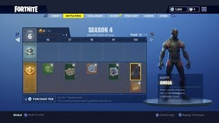 FORTNITE ALL SEASON 4 REWARDS! NEW SKINS AND EMOTES!!