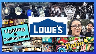 Lowes Shopping For Ceiling Fans and Light Fixture + Clearance Outdoor Decoration #ShopWithMe