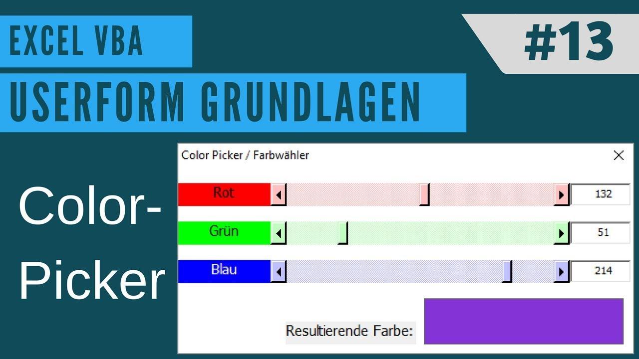 EXCEL VBA - Userform erstellen #13 ScrollBar (Einen eigenen ...