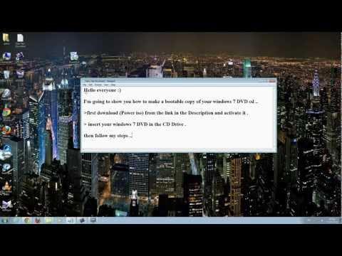 how to make a Bootable copy of your Windows 7 DVD Disk (using power iso)