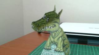 Illusion Dragon Papercraft