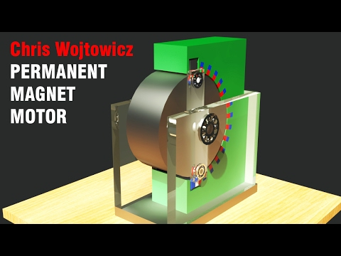 Free Energy Generator 2017, Chris Wojtowicz Permanent Magnet Motor, Amazing!!!