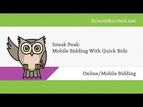 Sneak Peek: Mobile Bidding with Quick Bids
